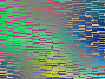 Verniciatura verde blu gialla astratta variopinta delle mattonelle Fotografia Stock
