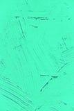 Verniciatura vicino su del colore verde chiaro del turchese vivo immagine stock libera da diritti