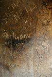 Vernielde steenmuur royalty-vrije stock afbeelding