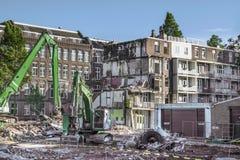 Vernieling in Amsterdam stock foto