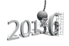 Vernieling van 2015 - bouwend 2016 Stock Afbeeldingen