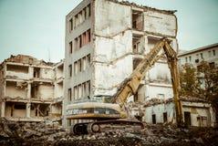 Vernieling van het oude gebouw Royalty-vrije Stock Foto's