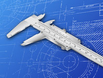 Vernier Blueprint Stock Photo