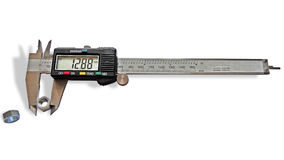 Vernier caliper. On a white background, isolated image Royalty Free Stock Photos