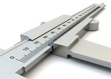 Vernier caliper closeup isolated Royalty Free Stock Photography
