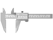 Vernier caliper isolated on white Royalty Free Stock Photo