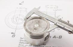 Vernier Caliper measure  piston Royalty Free Stock Photo