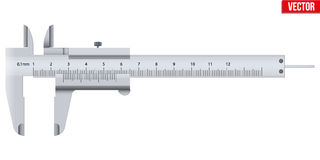 The Vernier caliper and scale. Measuring tool and wquipment. Editable Vector Illustration isolated on white background Stock Photo