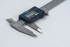 Vernier caliper. On white background royalty free stock photography