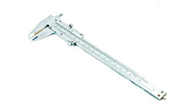 Vernier calipers. Vernier callipers, trammel - tool for precision stock photography