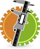 Vernier gear logo Stock Image