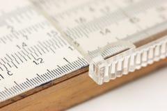 Vernier scale logarithmic ruler Stock Photo