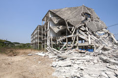 Vernietig de bouw Stock Foto's