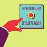 Vernietig de wereld Stock Foto