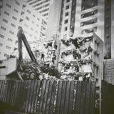 vernietigd stock fotografie