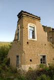 Vernietigd baksteenhuis Royalty-vrije Stock Fotografie