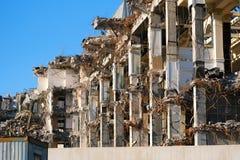 Vernietigd destructed de bouwruïnes stock fotografie
