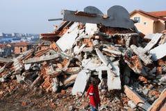 Vernietigd huis royalty-vrije stock afbeelding
