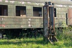 Vernietigd spoorwegdepot in Abchazië Royalty-vrije Stock Afbeeldingen