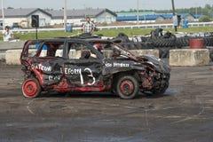 Vernietigde Auto Stock Foto's