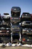 Vernietigde auto royalty-vrije stock foto's