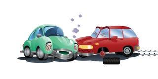 Vernietigde auto een neerstorting stock illustratie