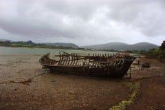Vernietigde boot Royalty-vrije Stock Afbeeldingen