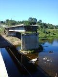 Vernietigde brug Royalty-vrije Stock Afbeeldingen