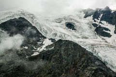 Vernietigde en smeltende gletsjer