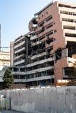 Vernietigde gebouwen in Belgrado Stock Fotografie