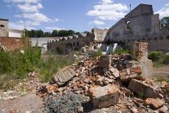 Vernietigde huizen Royalty-vrije Stock Foto