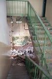 Vernietigde Ladder stock foto