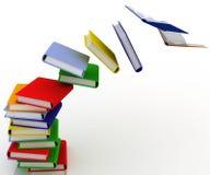 Vernietigde stapel van boeken stock illustratie