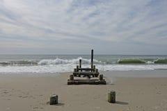 Vernietigde visserijdoorgang op het strand van Kaapmei Royalty-vrije Stock Afbeeldingen