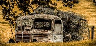Vernietigde vrachtwagen Stock Fotografie
