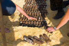 Vernietiging van shells Royalty-vrije Stock Foto's