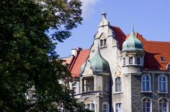 Vernieuw flats in Europen-stad royalty-vrije stock foto