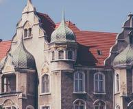 Vernieuw flats in Europen-stad stock fotografie