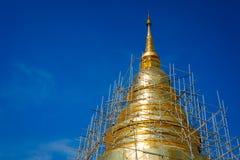 Vernieuw gouden pagode stock foto