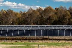 Vernieuwbaar Zonne-energiecomité Landbouwbedrijf royalty-vrije stock afbeelding