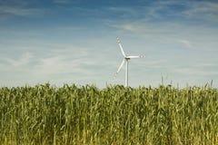 Vernieuwbare Energie - de Turbogenerator van de Wind Stock Foto