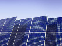 Vernieuwbare Energie - Zonnepanelen Stock Fotografie