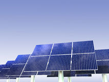 Vernieuwbare Energie - Zonnepanelen Royalty-vrije Stock Afbeelding
