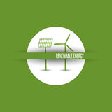 Vernieuwbare energiesymbolen stock illustratie