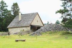 Vernieuwd huis op klooster in Slowaaks Paradijs Royalty-vrije Stock Afbeelding