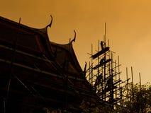 Vernieuwd pagodesilhouet stock afbeeldingen