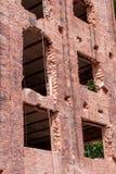 Vernieuwing van een historisch baksteengebouw Stock Afbeeldingen