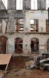 Vernieuwing van een oud gebouw Stock Fotografie