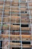 Vernieuwing van oude gebouwen Stock Foto's