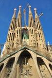 Vernieuwing van Sagrada FamÃlia, Barcelona, Spanje Stock Afbeelding